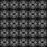 Γεωμετρικό σχέδιο ovals και των μονογραμμάτων σε μονοχρωματικό Στοκ φωτογραφίες με δικαίωμα ελεύθερης χρήσης