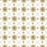 Γεωμετρικό σχέδιο με τα τριαντάφυλλα Στοκ εικόνα με δικαίωμα ελεύθερης χρήσης