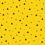 Γεωμετρικό σχέδιο: τρίγωνα, κύκλοι και rhombs Άνευ ραφής vecto Στοκ φωτογραφία με δικαίωμα ελεύθερης χρήσης