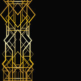 Γεωμετρικό σχέδιο deco τέχνης Στοκ φωτογραφία με δικαίωμα ελεύθερης χρήσης