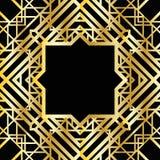 Γεωμετρικό σχέδιο deco τέχνης Στοκ Φωτογραφία