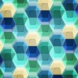 Γεωμετρικό σχέδιο hexagons Στοκ Εικόνες