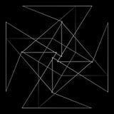 Γεωμετρικό σύνολο για το σχέδιο διανυσματικό EPS10 δώρων και διακοπών Στοκ Φωτογραφία