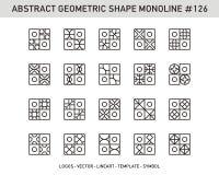 Γεωμετρικό σύνολο μορφής στοιχείων Στοκ Εικόνα