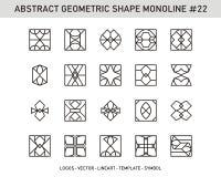 Γεωμετρικό σύνολο μορφής στοιχείων Στοκ Φωτογραφία