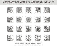 Γεωμετρικό σύνολο μορφής στοιχείων Στοκ εικόνες με δικαίωμα ελεύθερης χρήσης