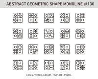 Γεωμετρικό σύνολο μορφής στοιχείων Στοκ Φωτογραφίες