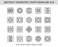 Γεωμετρικό σύνολο μορφής Στοκ Φωτογραφίες