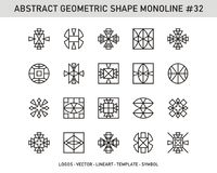Γεωμετρικό σύνολο μορφής Στοκ φωτογραφία με δικαίωμα ελεύθερης χρήσης