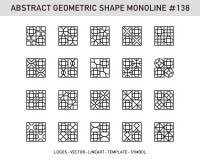 Γεωμετρικό σύνολο μορφής Στοκ Εικόνα