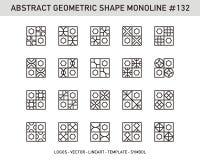 Γεωμετρικό σύνολο μορφής Στοκ εικόνες με δικαίωμα ελεύθερης χρήσης