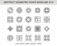 Γεωμετρικό σύνολο στοιχείων Στοκ Εικόνα