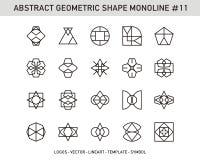 Γεωμετρικό σύνολο Στοκ Φωτογραφίες