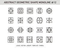 Γεωμετρικό σύνολο Στοκ Εικόνες