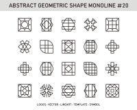 Γεωμετρικό σύνολο Στοκ Εικόνα