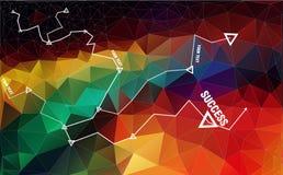 Γεωμετρικό τριγωνικό πολυ ύφος Στοκ Φωτογραφίες