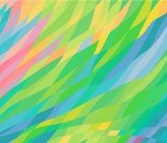 Γεωμετρικό υπόβαθρο στις πολύχρωμες ομαλές γραμμές χρώματος και rhombuses διανυσματική απεικόνιση