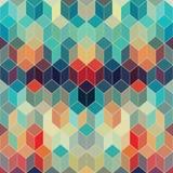 Γεωμετρικό υπόβαθρο Hipster φιαγμένο από κύβους Αναδρομικό χρώμα μ hipster Απεικόνιση αποθεμάτων