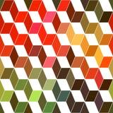 Γεωμετρικό υπόβαθρο Hipster φιαγμένο από κύβους Αναδρομικό χρώμα μ hipster Στοκ Φωτογραφία