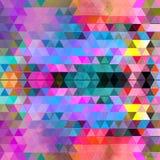 Γεωμετρικό υπόβαθρο Watercolor με τα τρίγωνα Στοκ εικόνα με δικαίωμα ελεύθερης χρήσης