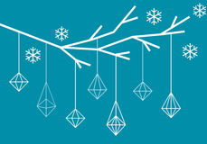 Γεωμετρικό χριστουγεννιάτικο δέντρο, διάνυσμα Στοκ Εικόνα