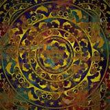 Γεωμετρικό, χρυσό χρώμα μορφής υποβάθρου Στοκ φωτογραφία με δικαίωμα ελεύθερης χρήσης