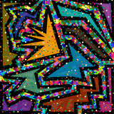 Γεωμετρικό χρωματισμένο περίληψη υπόβαθρο ταπετσαριών Στοκ εικόνα με δικαίωμα ελεύθερης χρήσης