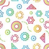 Γεωμετρικό χρώμα σχεδίων Doodle Στοκ Εικόνα