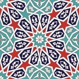 Γεωμετρικό Floral σχέδιο Seljuk Στοκ Εικόνες