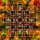 Γεωμετρικό Fractal Ι Στοκ Εικόνα