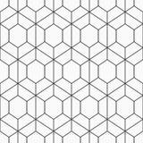 γεωμετρικό hexagons άνευ ραφής διάνυσμα προτύπων Στοκ εικόνα με δικαίωμα ελεύθερης χρήσης