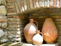 Γεωργία Αρχαίες της Γεωργίας κανάτες Στοκ εικόνα με δικαίωμα ελεύθερης χρήσης