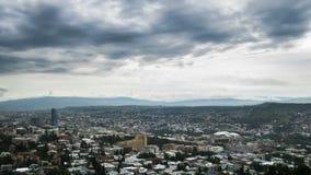 Γεωργία Tbilisi περιοχή Μόσχα μια πανοραμική όψη Χρονικό σφάλμα φιλμ μικρού μήκους