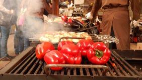 Γεωργιανός που το παραδοσιακό κρέας στα οβελίδια Στοκ εικόνα με δικαίωμα ελεύθερης χρήσης