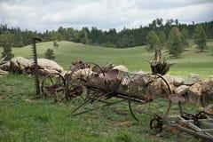 γεωργικά μηχανήματα σιδήρ&omi στοκ εικόνες