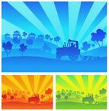 γεωργικά μηχανήματα διανυσματική απεικόνιση