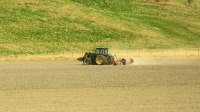 Γεωργική εργασία την άνοιξη Στοκ Φωτογραφία
