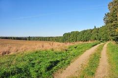 Γεωργική διαδρομή στη Δημοκρατία της Τσεχίας Στοκ Εικόνες