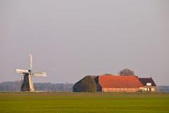 γεωργικό ολλανδικό τοπίο Στοκ Εικόνα