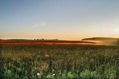 γεωργικό πεδίο φθινοπώρ&omicron Στοκ Φωτογραφίες