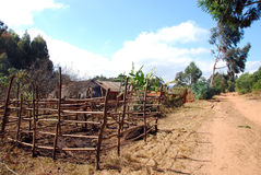 Γεωργικό τοπίο στην Τανζανία - την Αφρική Στοκ Φωτογραφίες