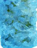 Γεωλογικά κρύσταλλα πολύτιμων λίθων Aquamarine geode Στοκ Φωτογραφίες