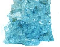 Γεωλογικά κρύσταλλα πολύτιμων λίθων Aquamarine geode Στοκ Εικόνα