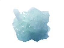 Γεωλογικά κρύσταλλα χαλαζία κρυστάλλου Aquamarine geode Στοκ Εικόνες