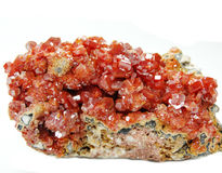 Γεωλογικά κρύσταλλα Vanadinite geode Στοκ εικόνες με δικαίωμα ελεύθερης χρήσης