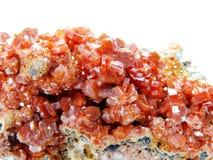 Γεωλογικά κρύσταλλα Vanadinite geode Στοκ Εικόνα