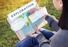 Γεωλογική χαρτογραφία Concep εξερεύνησης συντεταγμένων ηπείρων Στοκ εικόνα με δικαίωμα ελεύθερης χρήσης