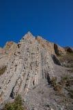 Γεωλογικός απότομος βράχος πτυχών Zumaia Στοκ φωτογραφία με δικαίωμα ελεύθερης χρήσης