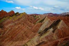 Γεωλογικό πάρκο Danxia Zhangye Στοκ φωτογραφία με δικαίωμα ελεύθερης χρήσης