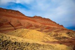 Γεωλογικό πάρκο Danxia Zhangye Στοκ εικόνες με δικαίωμα ελεύθερης χρήσης